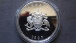 1 доллар 1997 Барбадос серебро (Ж.3.15)~, фото №4