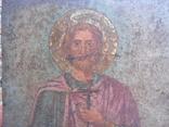 Икона на металле Святой мученик Диомид, фото №3