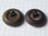 2 довоенные пуговицы на китель шинель, защитная и латунная, фото №7