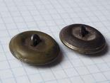 2 довоенные пуговицы на китель шинель, защитная и латунная, фото №9