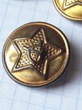 Пуговицы СА в позолоте 22 мм, нечастые, без года, фото №7