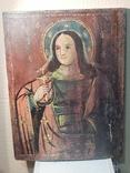 Икона Святой великомученицы Варвары (XIX) век, фото №2