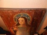 Икона Святой великомученицы Варвары (XIX) век, фото №6