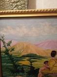 Старинная картина маслом на холсте., фото №9