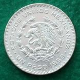 Мексика 1 песо 1959 г., фото №3