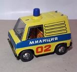 Машинка МИЛИЦИЯ 02 из СССР металл, фото №2