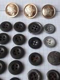 Пуговицы к амуниции разных периодов, звёздочки, более 40 шт, фото №3