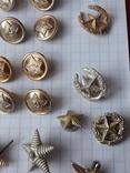 Пуговицы к амуниции разных периодов, звёздочки, более 40 шт, фото №6