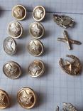 Пуговицы к амуниции разных периодов, звёздочки, более 40 шт, фото №7