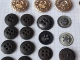 Пуговицы к амуниции разных периодов, звёздочки, более 40 шт, фото №9