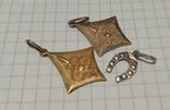 Три серебряных кулона ( 2шт. СССР , 1 шт. Украина ), фото №2