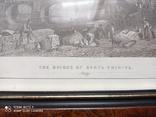 Старинная гравюра Мост Санта-Тринита Дж.Редеуей, фото №4