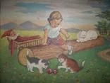 Мальчик играет с котятами., фото №3