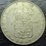 1 крона Швеція 1954 срібло, фото №2