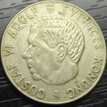 1 крона Швеція 1954 срібло, фото №3