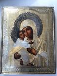 Икона БМ Владимирская, 84 проба, клеймо СГ, фото №9
