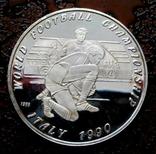 50 кип Лаос 1990 состояние Proof серебро, фото №2