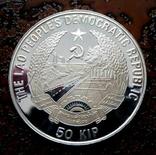 50 кип Лаос 1990 состояние Proof серебро, фото №5