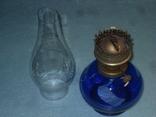 Лампа керосиновая цветное стекло СССР, фото №3