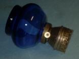 Лампа керосиновая цветное стекло СССР, фото №4