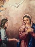 Икона Благовещение Пресвятой Богородицы Академическая живопись, фото №3
