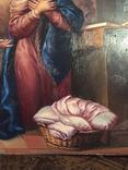 Икона Благовещение Пресвятой Богородицы Академическая живопись, фото №7