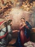 Икона Благовещение Пресвятой Богородицы Академическая живопись, фото №8