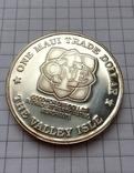 1 доллар о. Мауи (Гавайи) 1993 серебро, фото №4