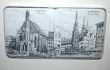Подложки из меламина, Нюрнберг, Schuberth, W.Germany в футляре, 6 шт - 9,5х9,5 см., фото №2