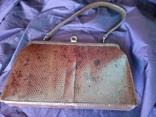 Сумочка клатч из варана, 40-50-е, фото №11