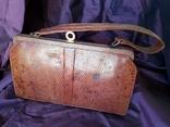 Сумочка клатч из варана, 40-50-е, фото №2