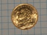 20 франков 1935 год. Швейцария, фото №4