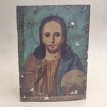 Господь Вседержитель. Икона. Живопись по левкасу. 30х22,5см., фото №3