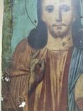 Господь Вседержитель. Икона. Живопись по левкасу. 30х22,5см., фото №6