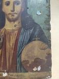 Господь Вседержитель. Икона. Живопись по левкасу. 30х22,5см., фото №7