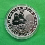 Тувалу 1 доллар Королевская удача Корабль Черная борода 2020 1 oz, фото №2