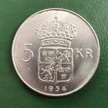 5 крон 1954 г. Швеция, фото №3