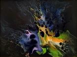 Картина/ живопис/ абстракція Fluid Art #3 acrylic, фото №4