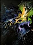 Картина/ живопис/ абстракція Fluid Art #3 acrylic, фото №8