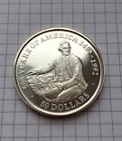 50 долларов о-ва Кука 1989 серебро, фото №2