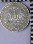 5 марок, Пруссия, император Вильгель II, 1903 год, серебро 0.900, 27.77 грамм, фото №3