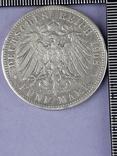 5 марок, Пруссия, император Вильгель II, 1908 год, серебро 0.900, 27.77 грамм, фото №3