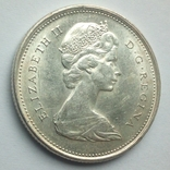 Канада 25 центов 1968 г. серебро, фото №5