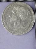 5 песет, Испания, 1875 г., король Альфонсо XII, серебро 0.900, 25 гр., фото №2