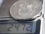 5 песет, Испания, 1884 г., король Альфонсо XII, серебро 0.900, 25 гр., фото №4