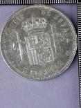 5 песет, Испания, 1885 г., король Альфонсо XII, M.S. .M., серебро 0.900, 25 гр., фото №3