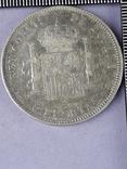 5 песет, Испания, 1898 год, король Альфонсо XIII, серебро 0.900, 25 грамм, фото №3