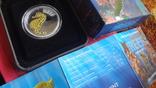 50 центов 2010 Австралия Морской конек Цветная Сертификат Коробка серебро, фото №3