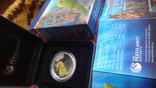 50 центов 2010 Австралия Морской конек Цветная Сертификат Коробка серебро, фото №4