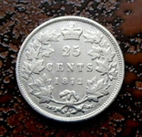 25 центов Канада 1872 серебро, фото №3